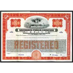 Shanghai Power Co. Specimen Registered Bond.