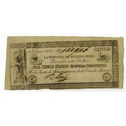 La Provincia De Buenos Ayres, 1844 Issue Banknote.