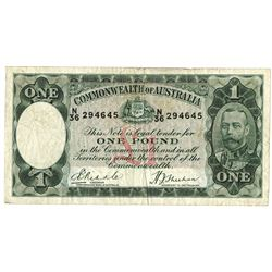 Commonwealth of Australia ND (1933-38) Issue Banknote.