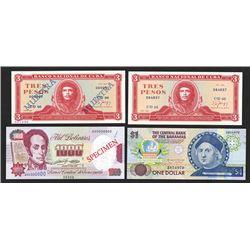 Central Bank of the Bahamas, Banco Nacional de Cuba, Banco Central de Venezuela. 1988-1992. Quartet