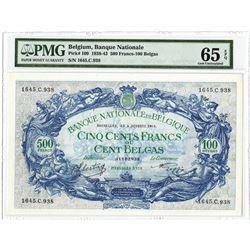 Banque Nationale de Belgique, 1943, Issued Note