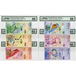 Bermuda Monetary Authority, 2009, Set of 6 Matching Low Serial # Banknotes