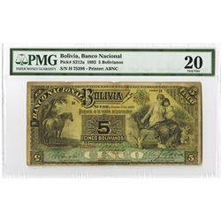 Banco Nacional de Bolivia, 1892, Issued Note