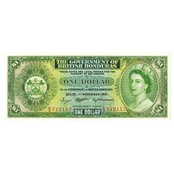Government of British Honduras, 1961 Issue Banknote.