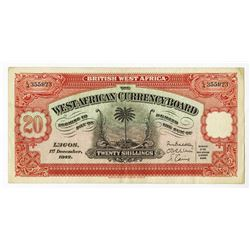 West African Currency Board, 1942 Issued Banknote.