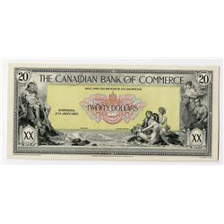 Canadian Bank of Commerce, 1917-1918 Proof Face Banknote.