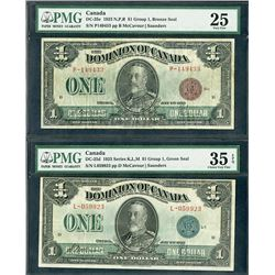 Dominion of Canada, 1923, Pair of Issued Notes