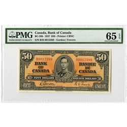 Bank of Canada, 1937 High Grade Banknote.