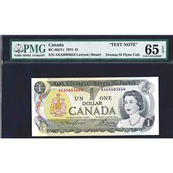 Bank of Canada, 1973, Gem Uncirculated Test Note