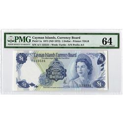 Cayman Islands Currency Board, 1971 (ND 1972), Issued Banknote