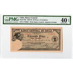 Banco Central de Chile, 1928-30, Issued Note