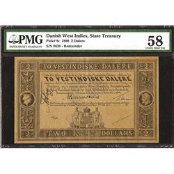 State Treasury, 1898, Unissued Remainder Banknote