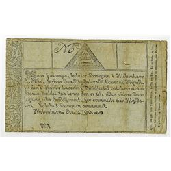 Copenhagen Notes, Exchange and Mortgage Bank, 1790 Issue Banknote.