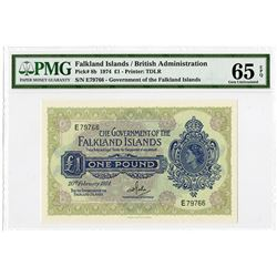 Government of the Falkland Islands (British Administration), 1974, Issued Note