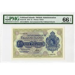 Government of the Falkland Islands - British Administration, 1974, Issued Banknote