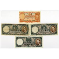 Government of Fiji, 1941-1942, Issued Trio & Commonwealth of Australia, 1942, Issued Note