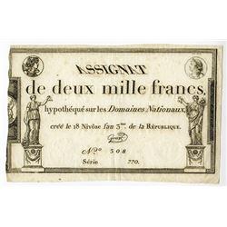 Republique Francaise, 1795 Franc Issue.
