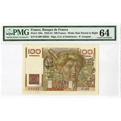 Banque de France, 1952, Issued Note