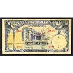 Banque De L'Indochine Contemporary Counterfeit, 1946 ND Issue..