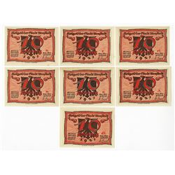 Arnstadt, 1921, Set of 7 Anti-Semetic Notgeld