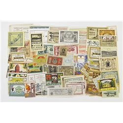 German and Austrian Notgeld Assortment of over 100 Pieces.
