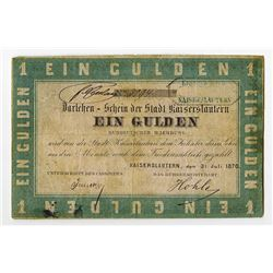 Southern Germany City Loan, 1870, Unlisted Issued Local Note