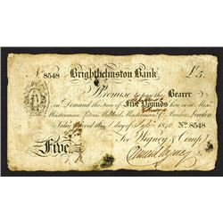 Brighthelmston Bank. 1840 Issue.