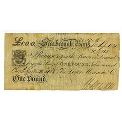 Scarbrough Bank, 1821 Issue Banknote.