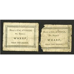 Mr. Breame's Wharf. Two chits.
