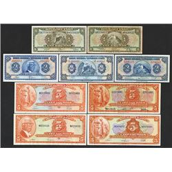 Banque Nationale de Republique d'Haiti 1940-60's Banknote Assortment.