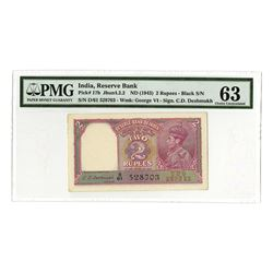 Reserve Bank of India, (ND 1943), Issued George VI Choice Uncirculated Banknote