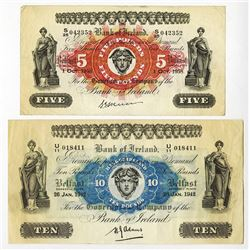 Bank of Ireland, 1942 and 1958 Issue Pair.