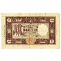 Banca D'Italia, 1943-45 Issued Banknote.