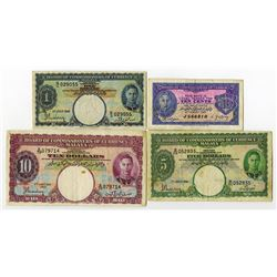Board of Commissioners of Currency, Malaya, 1940-41 Issue Banknote Quartet.