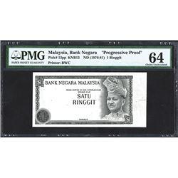 "Bank Negara, ND (1976-81) ""Progress Proof"" Banknote."