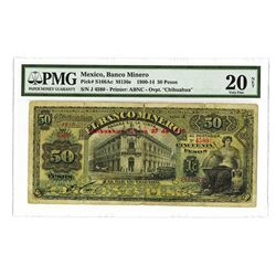Banco Minero, 1900-1914, Issued Banknote