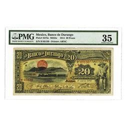 Banco de Durango, 1914, Issued Banknote