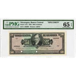 Banco Central de Nicaragua, 1962, Specimen Note