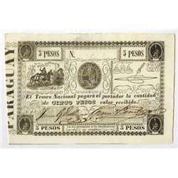 El Tesoro Nacional, ND (1862) Issue Banknote.