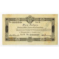 Kassowy-Billet Xiestwa Warszawskiego, 1810 Treasury Note.