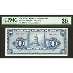National Bank of South Vietnam, ND (1955) Issue Banknote.