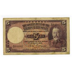Government of the Straits Settlements, 1935 Issue.