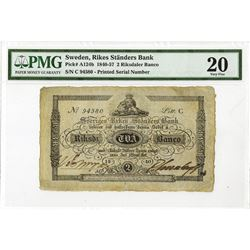 Rikes Ständers Bank, 1840, Issued Note