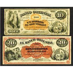 Banco Oriental. 1867 Issue.