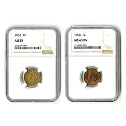 United States: Philadelphia Mint, Pair of Pennies,