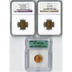 United States: San Francisco & Philadelphia Mints, Trio of Better Pennies,