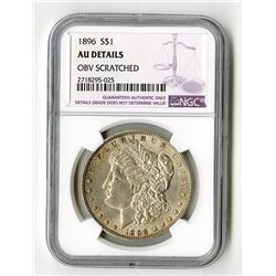 United States: Philadelphia Mint, 1896 S Silver Dollar,
