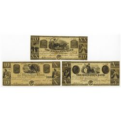 Mechanics Bank, 1861 Obsolete Banknote Trio.
