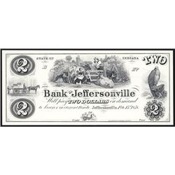 Bank of Jeffersonville $2 Proprietary Proof Banknote.