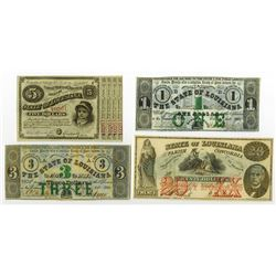 State of Louisiana, 1862 Obsolete Banknote Trio.